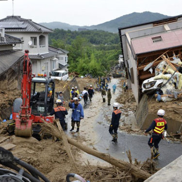 Insured losses for flooding in western Japan could hit $4bn after record rainfall