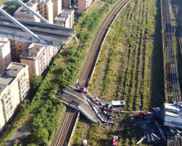 Swiss Re insured company operating collapsed Italian bridge