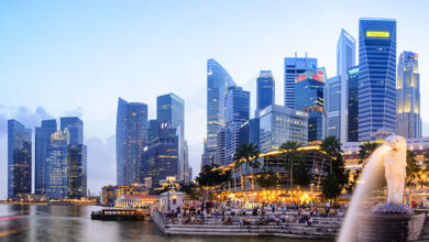 Singapore city, Singapore - February 4, 2012 : Merlion park