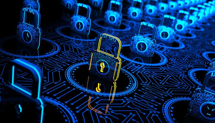 Abstract Digital concept which shows network security optimization and internet technology