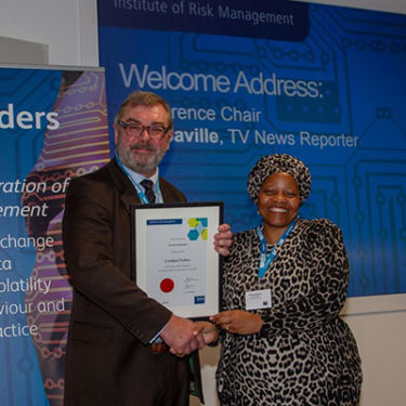 South African risk manager makes top membership grade