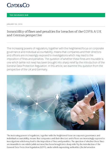 001_Insurability of fines and penalties for GDPR