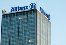Berlin, Germany - May 5, 2018: Financial and insurance group Allianz logo. Founded in 1890 in Berlin, Allianz SE is now headquartered in Munich and is the largest German insurance company