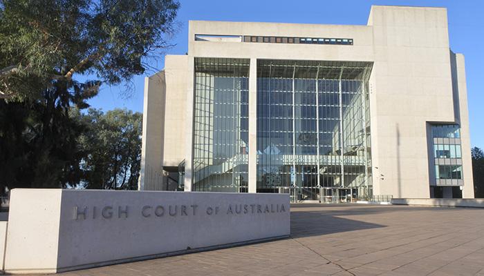 Canberra, Australia - February 22 2019: High Court of Australia in Canberra Australia Capital Territory.