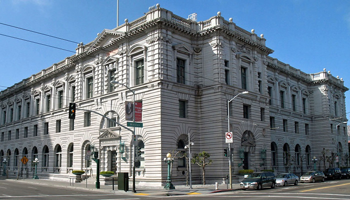 James R. Browning U.S. Court of Appeals Building, San Francisco, California. Headquarters of the United States Court of Appeals for the Ninth Circuit.