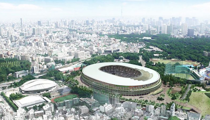 Japan's new national stadium in Tokyo is being built to host the 2020 Games. Credit: Japan Sport Council