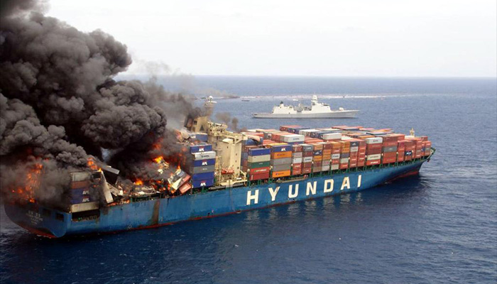 Hyundai-Fortune-container-ship-fire