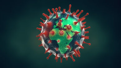 Novel Coronavirus outbreak and pandemic concept. Covid-19 or 2019-nCoV concept. Elements of this image furnished by NASA.