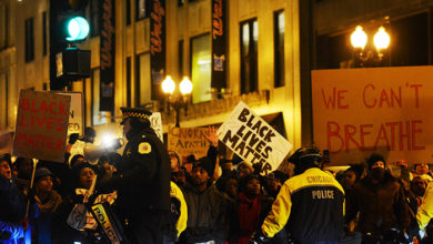 Black Lives Matter protest, Chicago, US. Credit: iStock/PaulMoody123