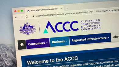 Canberra, Australia - October 7, 2018: Website of The Australian Competition and Consumer Commission or ACCC, an independent authority of the Australian government.
