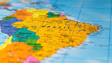 Map of Brazil - shallow focus