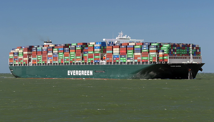 The containership Ever Given. Credit: Shutterstock/Martin Lueke