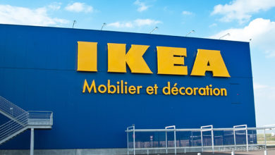 MULHOUSE - France 31 August 2016 - The Ikea logo IKEA is the world's largest furniture retailer and sells ready to assemble furniture