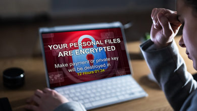Ransomware Malware Breach. Hacked Computer. Ransom Attack