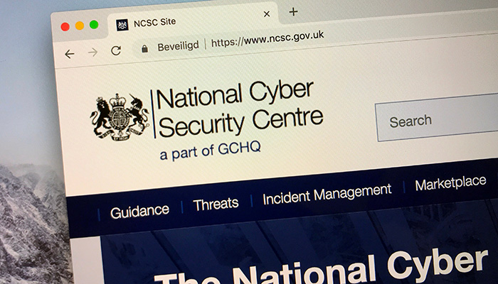London, United Kingdom - October 6, 2018: Website of The United Kingdom National Cyber Security Centre.