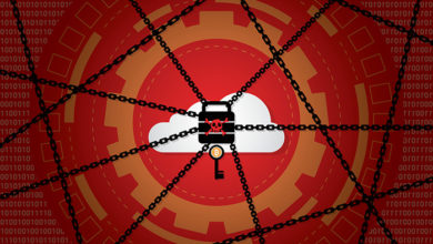 Cyber attack malware wannacry ransomware or maze virus encrypted files and lock on cloud computer concept. Hacker is offering key to unlock data for money. Vector illustration of security technology