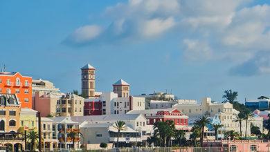 colorful cityscape at the coast of hamilton bermuda