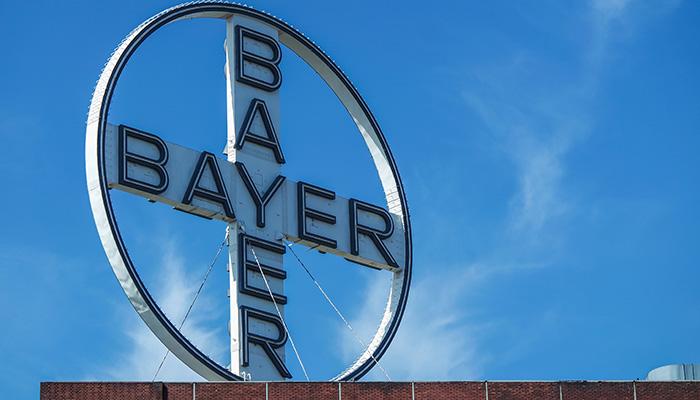 UERDINGEN, KREFELD / GERMANY - AUGUST 05 2015: Bayer logo short after the explosion in Chempark Uerdingen
