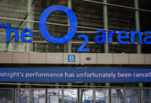 London,,Uk,-,March,2019:,The,O2,Arena,Entrance,Showing