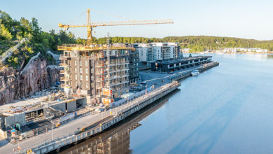Construction of residential buildings in Turku, Finland. Credit: Shutterstock/Jamo Images