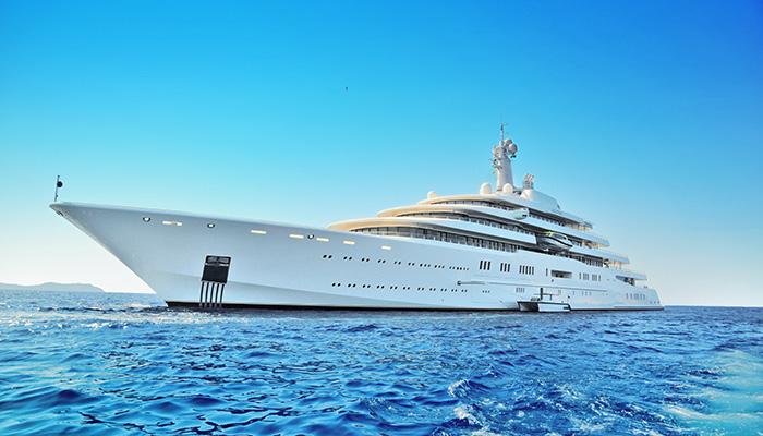 Luxury superyacht Eclipse anchored off the island of Ibiza, Spain. Credit: Shutterstock/Pilguj